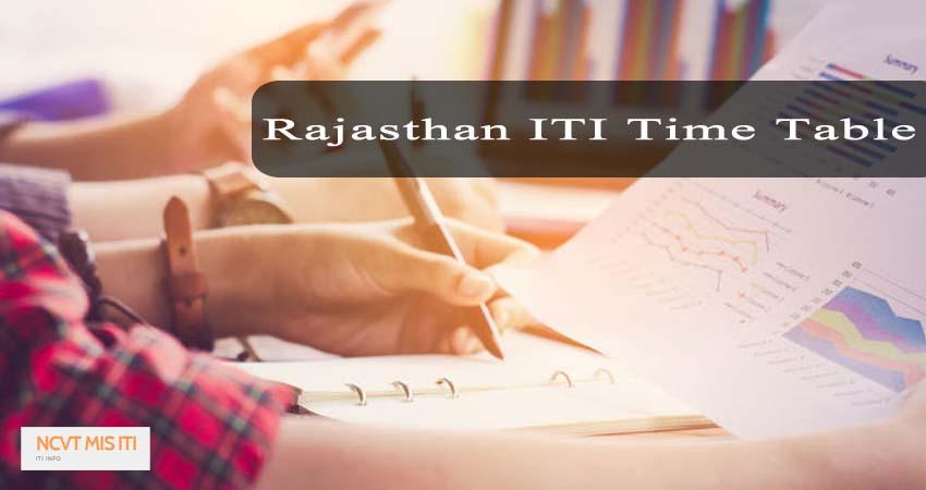 Rajasthan ITI Time Table