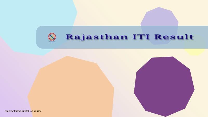 Rajasthan ITI Result