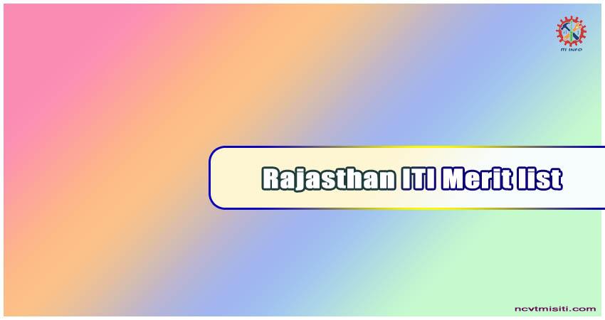 Rajasthan ITI Merit list